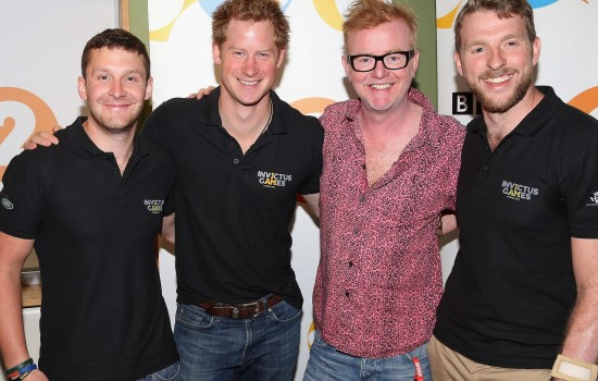 Prince Harry and Two Invictus Games Hopefuls put Through their Paces by BBC Radio 2's Chris Evans
