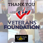 We Are Invictus platform for wounded, injured and sick Servicemen and women receive a boost from the Veterans' Foundation.